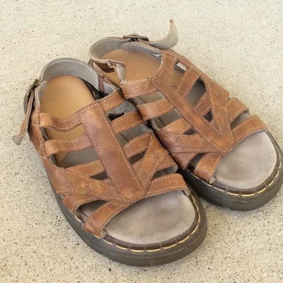 5fd3d2539487b Dr. Martens Shoes - Dr. DOC Martens Womens Slingback Brown Sandals